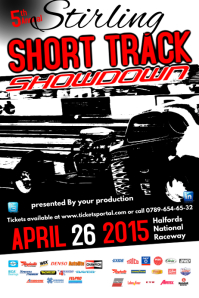 short track showdown poster template