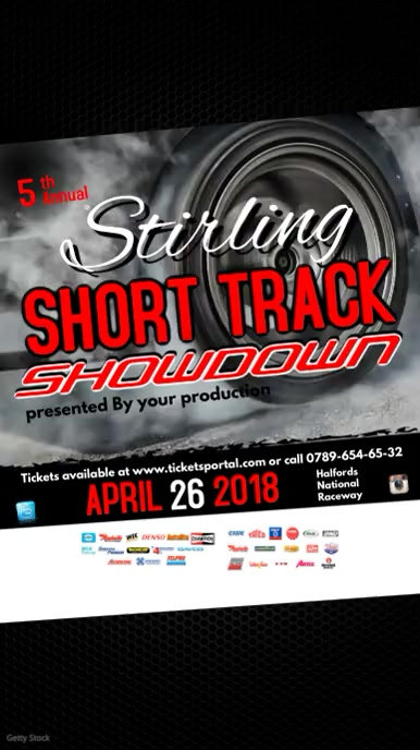 Short Track Showdown Video Post Template  Postermywall