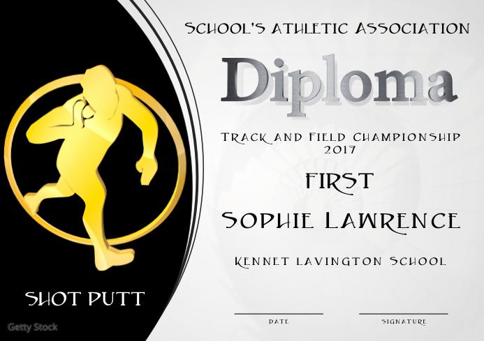 shot put diploma first