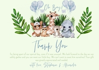 Shower by Mail Thank You Jungle Baby Shower Postal template