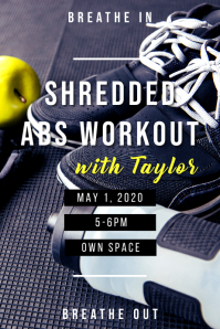 Shredded Abs Workout Poster template
