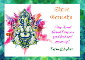 Shree ganesha A4 template