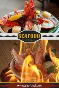 shrimp Poster template