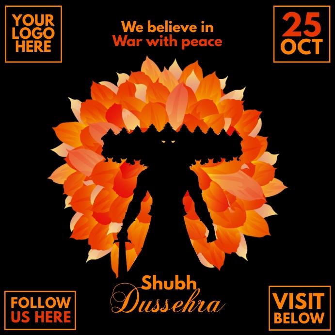 Shubh Dussehra Festival Post Template Quadrat (1:1)