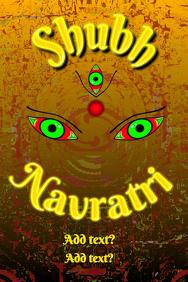 Shubh Navratri Poster template