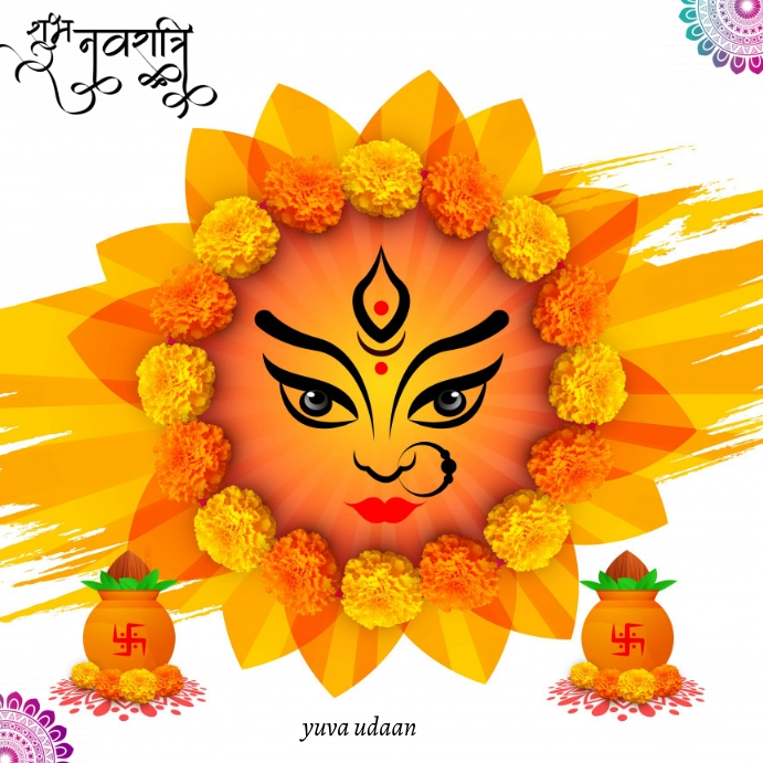 shubh navratri pster Message Instagram template