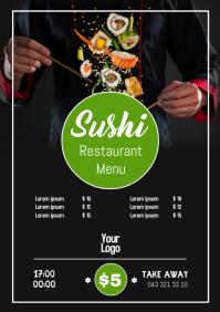 Shushi bar Restaurant chinese Menu Card Price