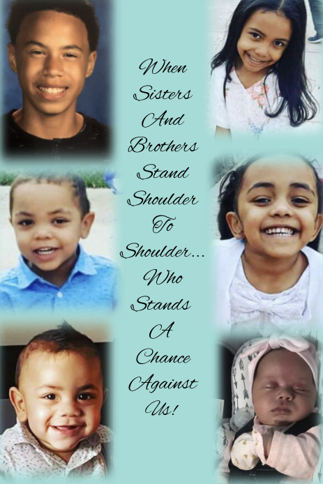 Siblings Collage Pinterest na Graphic template