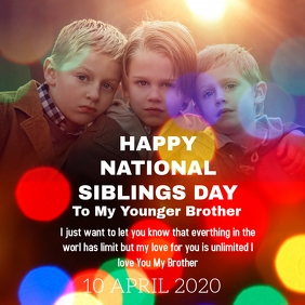 SIBLINGS DAY Square (1:1) template