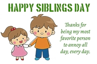 Siblings Day Poster template