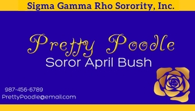 Sigma Gamma Rho Business Card template