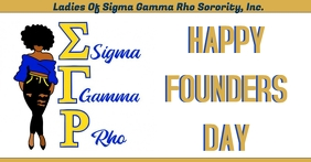 Sigma Gamma Rho founders day Facebook Event Cover template