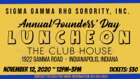 Sigma Gamma Rho Founders Day Luncheon Event Business Card template