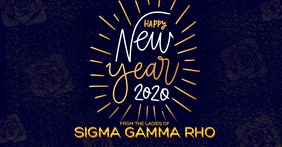 Sigma Gamma Rho Happy New Year 2020 Facebook 活动封面 template