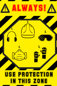sign - helmet goggles earmuffs ear defenders