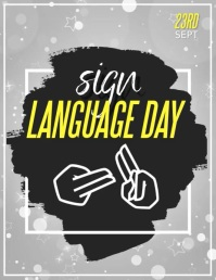 sign language day ใบปลิว (US Letter) template