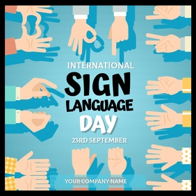 Sign Language Day Flyer Template Instagram Post