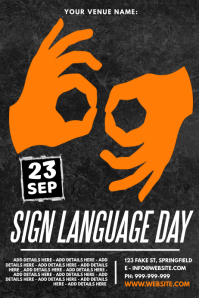 Sign Language Day Poster template