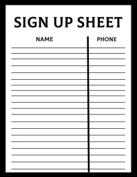 Sign Up Sheet Template ใบปลิว (US Letter)