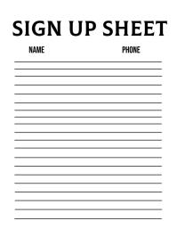 Sign Up Sheet Template Flyer (US-Letter)