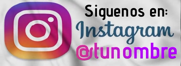 Siguenos en instagram รูปภาพหน้าปก Facebook template