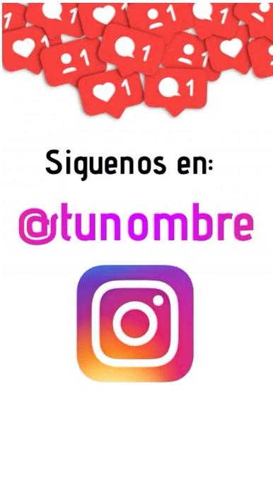 Siguenos en instagram template