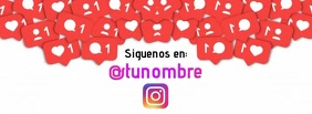 Siguenos en instagram Couverture Facebook template