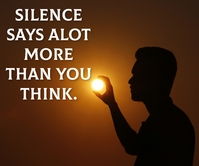 SILENCE AND THINK QUOTE TEMPLATE Großes Rechteck