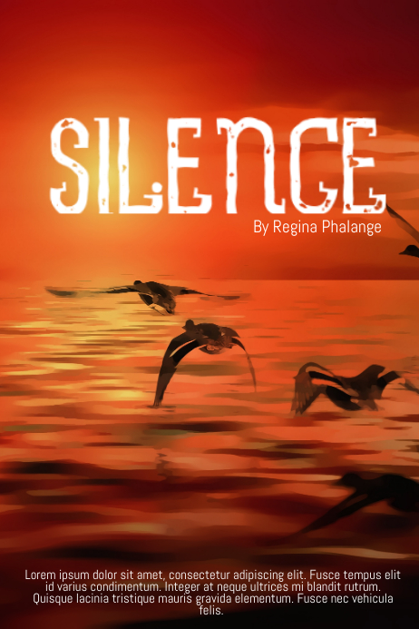 Silence beach sea book cover movie film template