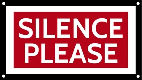 Silence Please Sign Board Template Facebook-omslagvideo (16:9)