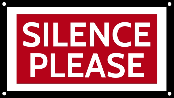 Silence Please Sign Board Template Facebook Cover Video (16:9)