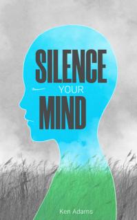 Silence your mind book cover design template Copertina di Kindle