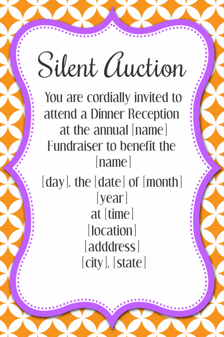 Silent Auction Event Invitation Poster Flyer