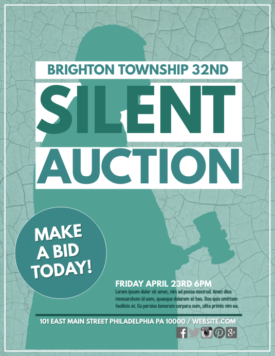 silent auction template postermywall