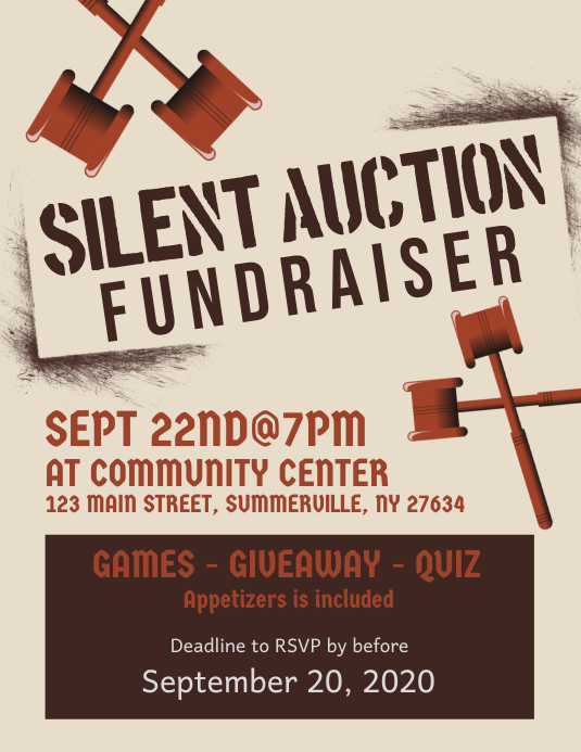 Silent Auction Fundraiser Flyer Template PosterMyWall