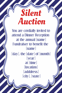 Silent Auction Invitation Flyer Template small business
