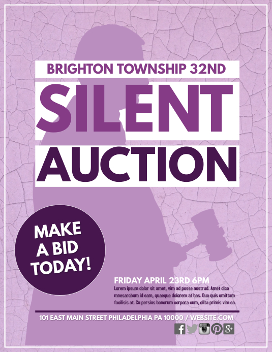 Silent auction template postermywall maxwellsz