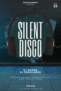 Silent Disco Flyer Design Template 海报