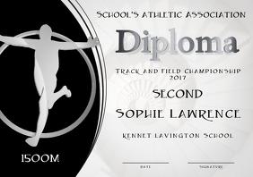silver medal diploma