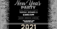 Silver NYE Party Facebook template