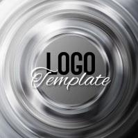 silver video logo design template