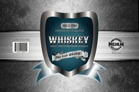Silver Whiskey Etiket template