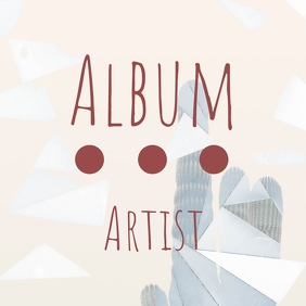 Simple album cover geometric design