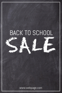 simple back to school sale retail promotion poster template