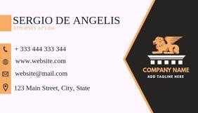 simple bicolor business card design template Visitenkarte