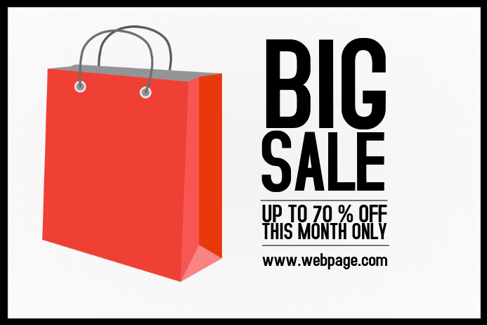 simple big sale landscape shopping bag template | PosterMyWall