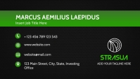 simple black and green shades corporate busin template