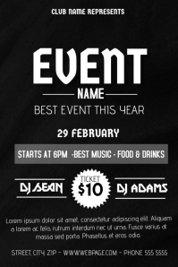 simple event flyer