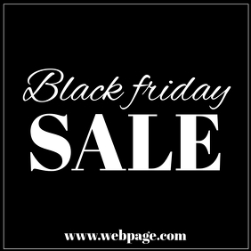 Simple Black Friday Sale Instagram Post Template