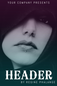 simple book cover template with portrait photo change